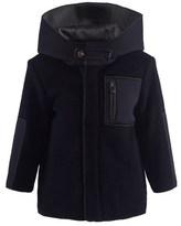 Il Gufo Navy Flannel And Neoprene Jacket