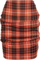 Vivienne Westwood Tartan Wool Mini Skirt