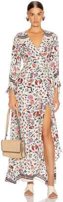 Natalie Martin Danika Long Sleeve Dress in Wildflower Pearl | FWRD