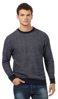 Red Herring Navy Textured Crew Neck Jumper