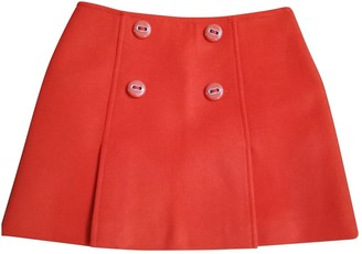 Prada Orange Wool Skirts