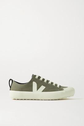 Veja Net Sustain Nova Organic Cotton-canvas Sneakers - Army green