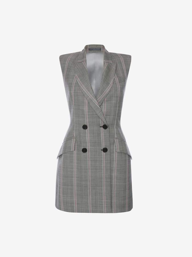 Alexander McQueen Prince of Wales Double-Breasted Mini Dress