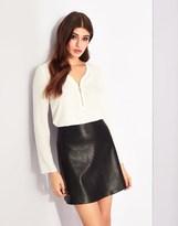 Lipsy Pu Mini Skirt