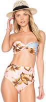 Salinas Spring Bandeau Bikini Top in Pink