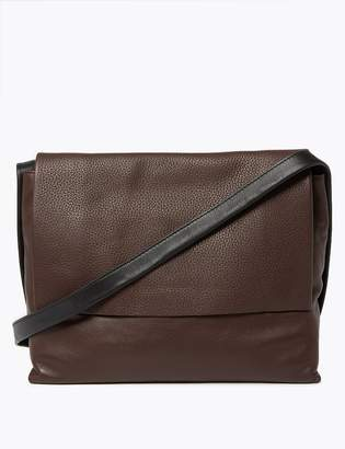 M&S CollectionMarks and Spencer Textured Leather Messenger Bag