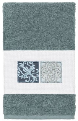 Linum Home Textiles 100% Turkish Cotton Vivian Embellished Hand Towel
