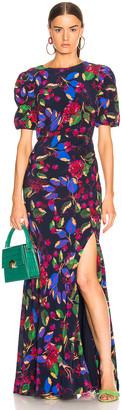 Saloni Annie B Dress in Indigo Carlotta Large | FWRD
