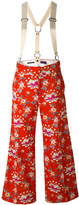 Y's floral wide-leg trousers