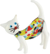 Jay Import Sybil Glass Multicolored Cat Figurine