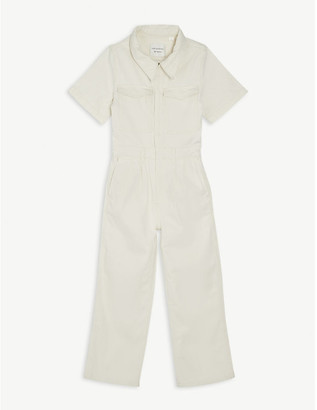 LES COYOTES DE PARIS Alex cotton-blend denim boiler suit 8-18 years