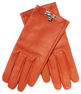 Sanguine Glossed Lambskin Gloves