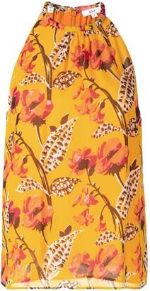 A.L.C. Floral-Print Halterneck Top