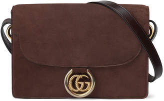 Gucci GG Ring Small Suede Crossbody Bag