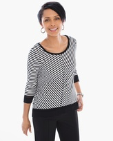 Chico's Hayley Striped Layering Tee