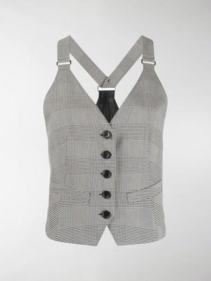 Max Mara Arley Menzies check waistcoat