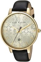 Ted Baker Women's 'Classic' Quartz Stainless Steel and Leather Dress Watch, Color:Black (Model: 10030694)