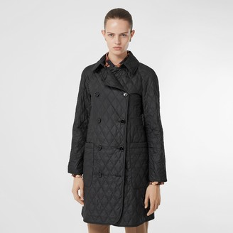 Burberry Diaond Quilted Double-breasted Coat