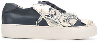 AGL Floral Patched Sneakers