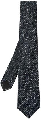 Cerruti abstract print tie