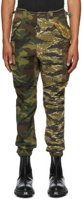 R 13 Multicolor Camouflage Military Cargo Pants