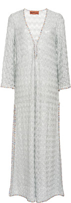 Missoni Mare Silver Wave Mesh Cover Up