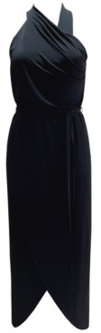 INC International Concepts Inc Halter Pleated Maxi Dress, Created for Macy's