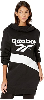 Reebok Classic Vector Performance Hooded Dress (Black) Women's Dress
