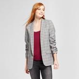Mossimo Women's Plaid Menswear Blazer Gray