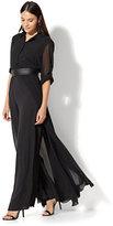 New York & Co. Long-Sleeve Jumpsuit - Black