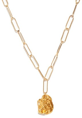 Alighieri St Christopher Charm Gold-plated Necklace - Gold