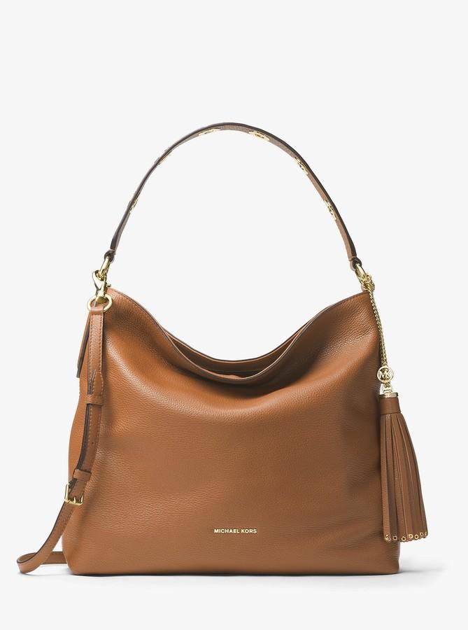 cf74e3f37f17 Michael Kors Large Leather Shoulder Bag - ShopStyle