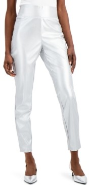 INC International Concepts Inc Faux-Leather Skinny Pants, Created for Macy's
