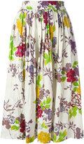 Etro floral print pleated skirt - women - Silk/Viscose - 46