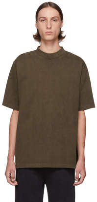 Lemaire Brown Mock Neck T-Shirt