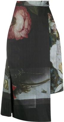 Vivienne Westwood Floral Print Midi Skirt
