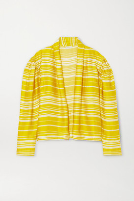 Dries Van Noten Striped Satin Blouse - Yellow