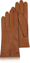 Forzieri Women's Cashmere Lined Brown Italian Leather Gloves