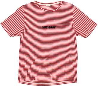 Saint Laurent Red Cotton T-shirts