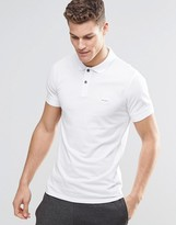 Boss Orange By Hugo Boss Polo Shirt With Logo In Slim Fit White