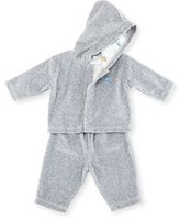 Kissy Kissy Jurassic Journey Velour Track Suit, Gray, Size 3-18 Months