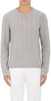 Barneys New York MEN'S STRIPED WOOL-CASHMERE SWEATER