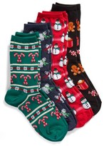 Hot Sox Women's 4-Pack Holiday Crew Socks Gift Set