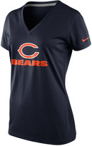 Nike Women's Short-Sleeve Chicago Bears V-Neck T-Shirt