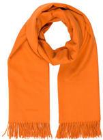 Hermes Orange Fringe Stole