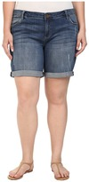 KUT from the Kloth Plus Size Catherine Boyfriend Roll Up Shorts in Teamwork
