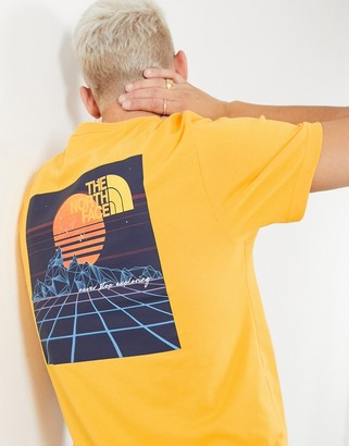 The North Face Throwback T-shirt in yellow