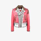 Gucci block panel studded jacket