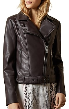 Ted Baker Pipiy Faux Leather Biker Jacket