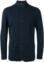 Giorgio Armani Jacquard knit mandarin collar jacket - men - Polyamide/Spandex/Elastane/Viscose - 50